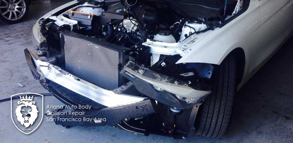 2014 BMW 320i Front End Collision (Before and After)