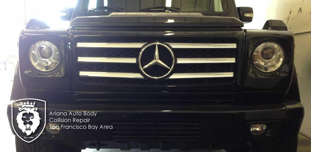 Mercedes-G550-G-Wagon collision repair blog image